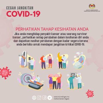 Cegah jangkitan COVID-19 dengan perhatikan tahap kesihatan anda